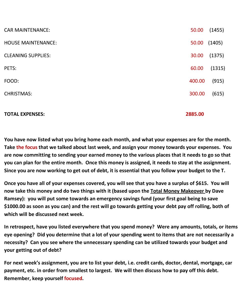 Assigning money-2