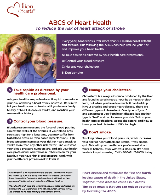ABCS of heart health