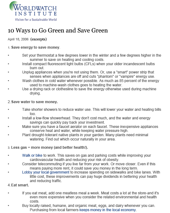 10 Ways to Go Green and Save Green-1