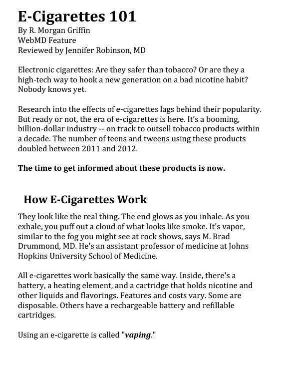 E-Cigarettes 101-1