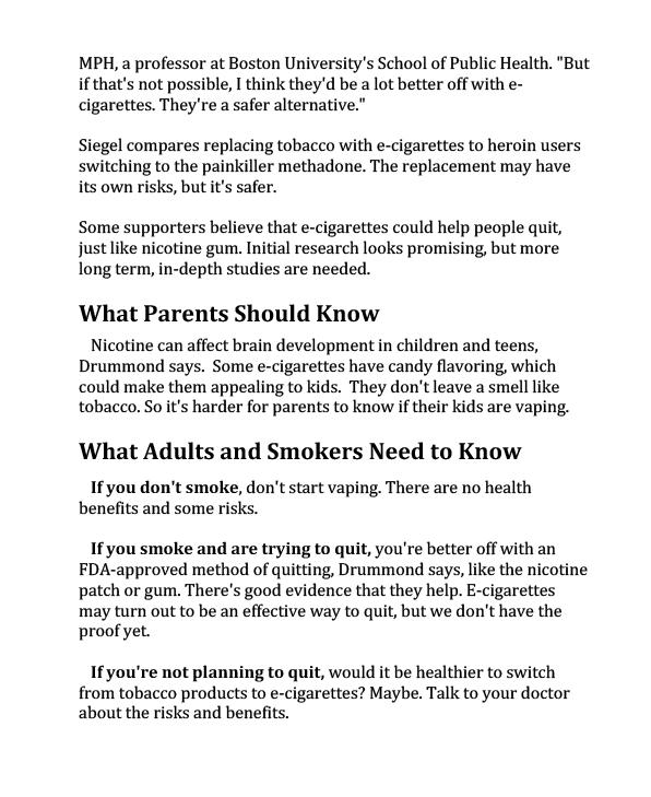 E-Cigarettes 101-3