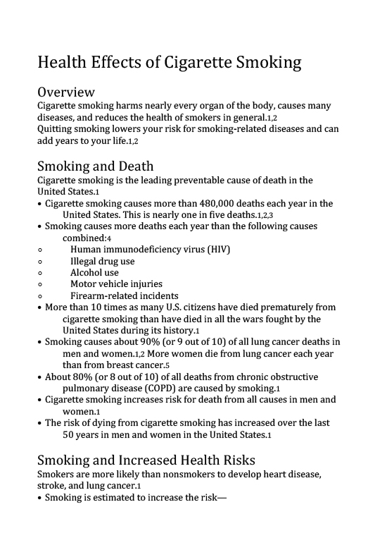 Health Effects of Cigarette Smoking-1