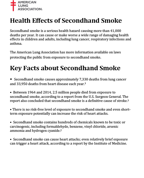 an overview of the causes and prevalence of second hand smoke Smoking is the leading cause of premature, preventable death in this country cigarette smoking and exposure to tobacco smoke cause about 480,000 premature deaths each year in the united states (.