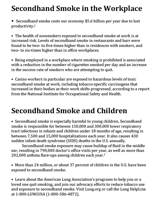 Health Effects of Secondhand Smoke-2