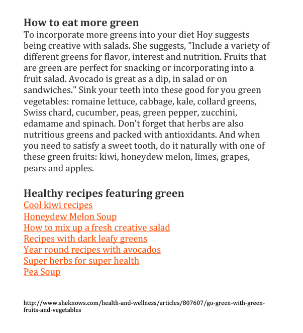 Go Green with Green Fruits and Vegetables-2