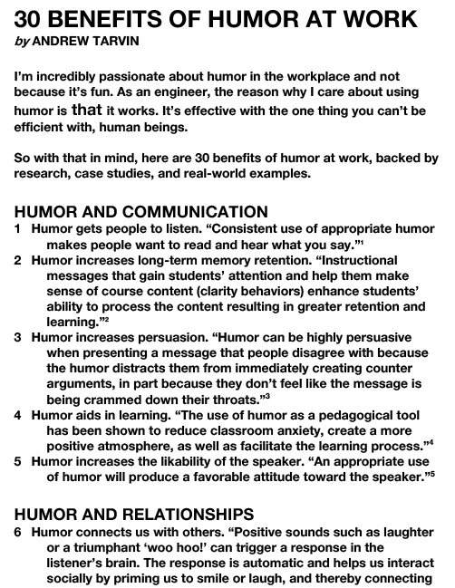 30 BENEFITS OF HUMOR AT WORK-1