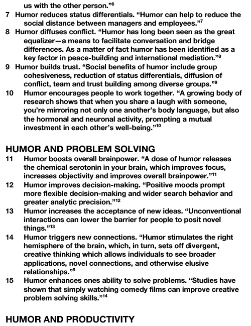 30 BENEFITS OF HUMOR AT WORK-2