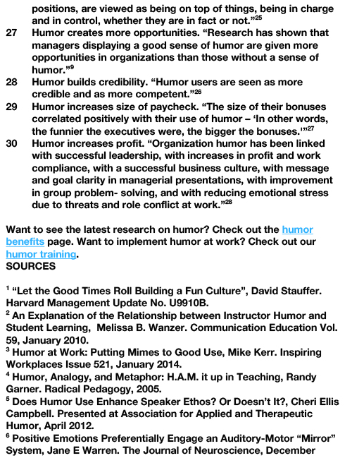 30 BENEFITS OF HUMOR AT WORK-4