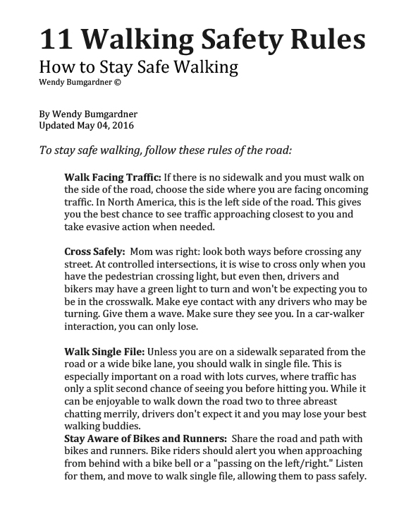 Walking rules-1