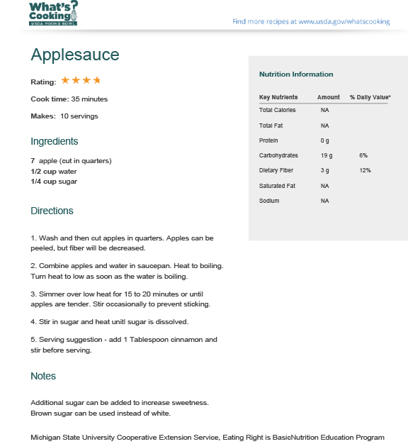 Applesauce | What's Cooking? USDA Mixing Bowl