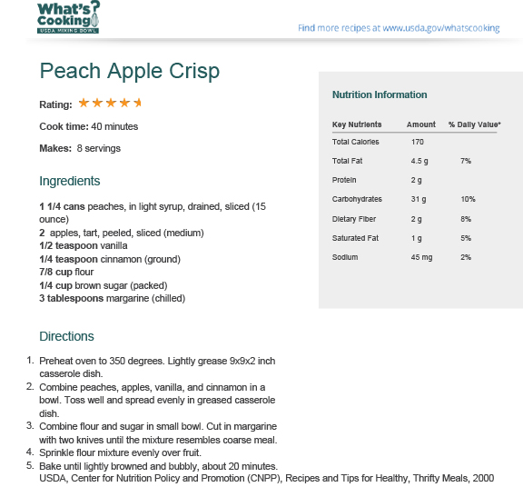 Peach Apple Crisp | What's Cooking? USDA Mixing Bowl